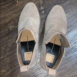 Dolce Vita Shoes - Taupe grey suede booties